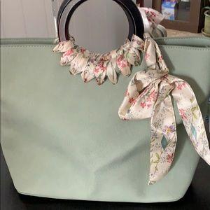 Unique Sage green bag fro Max Studio